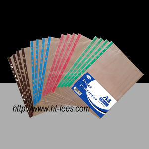 China 11 Hole Plastic Clear or Colored Plastic Folder Sheet ...