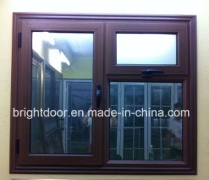 Aluminium Tempered Glass Casement Windows with Fly Screen Price pictures & photos