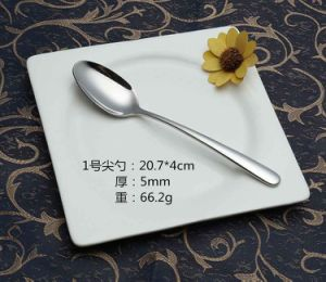 304 /18-10 Mirror Polished Stainless Steel Spoon for Tableware (C032)