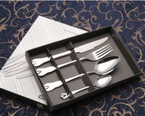 Four-Piece Suit Dinner-Knife Stainless Steel Cutlery Set (B23)
