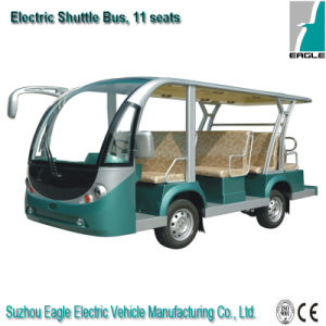 Electric Shuttle Personnel Carrier, Electric Vehicle with 11 Seats pictures & photos