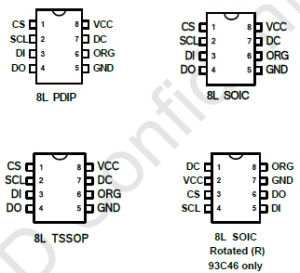 China 3-Wire Serial Eeprom 1k, 2k and 4kbit (8-bit or 16-bit