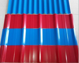 Red Galvanized Corrugated Roofing Sheet for House pictures & photos