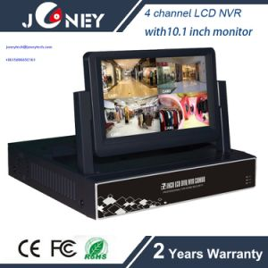 Hot Sell NVR-6204b Joneytech 4 Channel LCD NVR with 7 Inch LCD Monitor pictures & photos