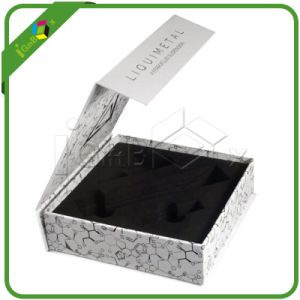 Flip Top Hinged Cardboard Black Packaging Box pictures & photos
