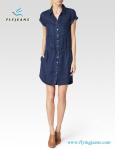 Soft Dark Denim Women Jeans Dress (e. p. 524) pictures & photos