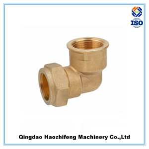 Brass Compression Fitting Elbow 90 Degree Pipe Fitting Tube Fitting pictures & photos