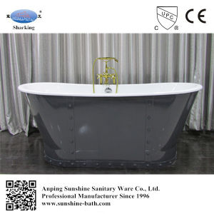 67 Inch Bathtub Porcelain Baby Bath Tub Cast Iron Drain
