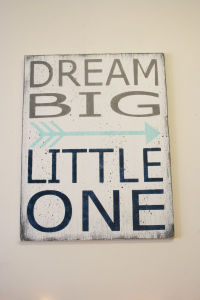 China Dream Big Little One Wood Sign Boys Nursery Wall Art Nursery