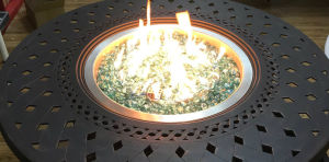 48-Inch Round Cast Aluminum Patio Fire Pit Table pictures & photos