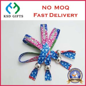 Factory Promotional Polyester Custom Festival Event Fabric Wrist Band (KSD-984) pictures & photos
