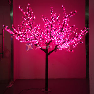 China Artificial Cherry Blossom Tree Light Pink Color Waterproof
