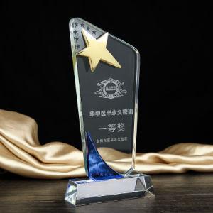Five Star New Design Custom Stars Crystal Glass Trophy Award