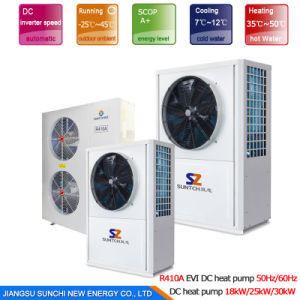 Big Building Central Heating by 60deg. C Dhw 19kw, 35kw, 70kw, 105kw Save70% Power Cop4.23 DC Inverter Air to Water Heat Pump Heater pictures & photos