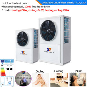 -25c Winter Weather Floor Heating Room+55c Hot Water 12kw 220V R407c Monoblock Air Source Heat Pump Evi pictures & photos