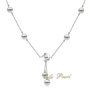 925 Silver Akoya Pearl Necklace Jewelry