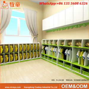 Preschool Childrens Storage Units furniture with Baskets (WKF-153D) pictures & photos