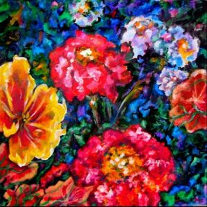 Flowers Oil Painting (MH--1)