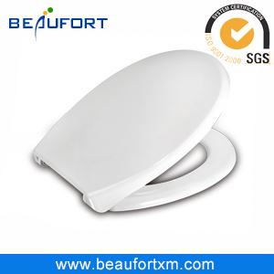 White Round Closed Front UF Toilet Seat Accessories with Soft Closing
