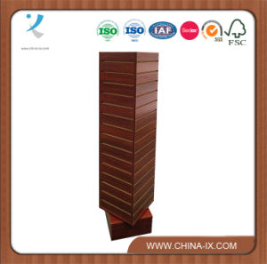4 Sided Revolving Slat Wall Tower Display Stand