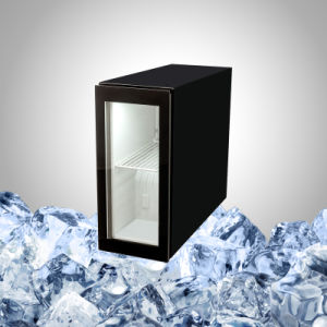 Slim Mini Fridge With See Through Glass Door For Drink