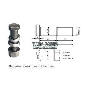 china wheel stud for mercedes benz actros axor atego. Black Bedroom Furniture Sets. Home Design Ideas