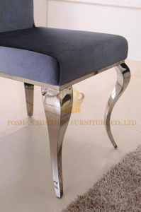 European Home Furniture Stainless Steel Dining Table and Chair Set pictures & photos
