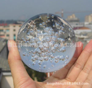 60mm 70mm Crystal Bubble Glass Ball for Decoration pictures & photos