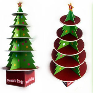 Cardboard Christmas Tree.Cardboard Christmas Tree Pos Display