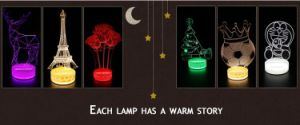 New Item 3D LED Lighting Table Lamp Kids Night Light pictures & photos