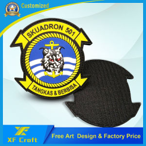 Professional Factory Customized 3D Police Military Airplane Polit PVC Rubber Patch for Souvenir (XF-PT10) pictures & photos