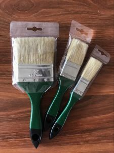 White Bristle Paint Brush with Wooden Color Handle