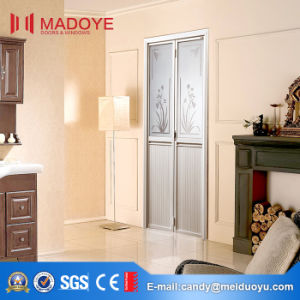 Chinese Style Bathroom Folding Door With Decorative Pattern