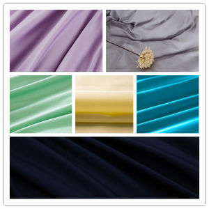 Woven Dyed Textile 100% Cotton Satin Fabric for Shirt
