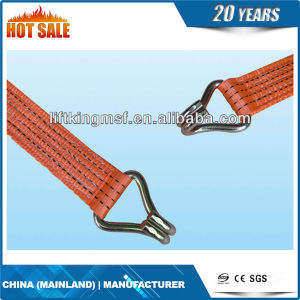 "1.5"" 38mm Ratchet Tie Down Cargo Lashing with Double J Hook pictures & photos"