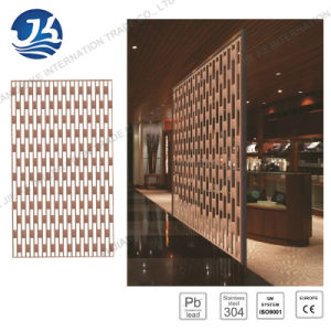 China Stainless Steel Room Divider and Folding Metal Screen for