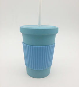 Eco-Friendly 400ml Bamboofiber Tumbler with Straw