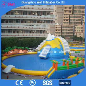 Giant Inflatable Water Playground Inflatable Pool And Water Slide Amusement  Park
