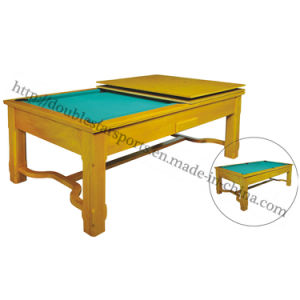 2 in 1 Pool Table with Dining Table Combo Factory Wholesale pictures & photos