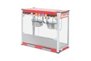 Flat Top Popcorn Machine with Double Boiler