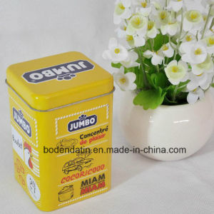 Customized Metal Square Tea Packaging Tin Box with Food Grade Varnish