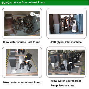 Running -40c Cold Winter Geothermal Water to Room Air Duct 5kw, 8kw, 12kw, 18kw Ground Air Heating+Cooling House pictures & photos