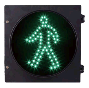 300mm Green Walk LED Traffic Signal Light for Pedestrian Crossing