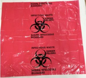 Red Bio Hazard Waste Bag pictures & photos