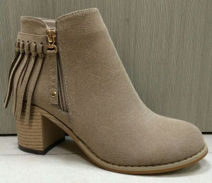 Micro Suede Tassel Lady Ankle Boot