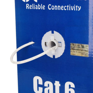 UTP CAT6 LAN Cable 305m Gigabit Fluke-Passed Poe Compatible White pictures & photos