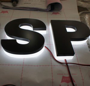 Shop Acrylic Steel Metal Fabricated Backlit Halolit Reverse Channel Letters pictures & photos
