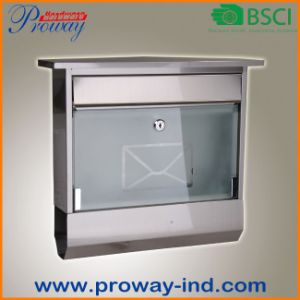 New Design Stainless Steel Mailbox with Glass Door pictures & photos