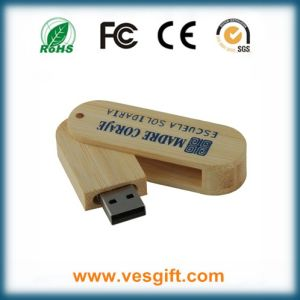 Promotional Gift Wood Custom USB Stick 1GB with Engraving Logo pictures & photos