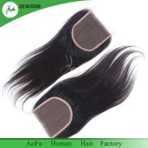 High Quality Unprocessed Remy Human Hair 100% Brazilian Human Closure pictures & photos